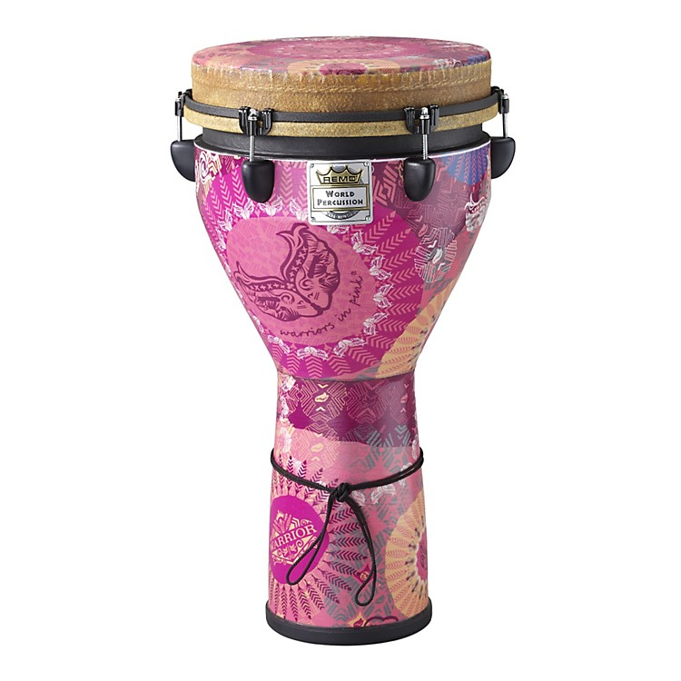 Remo Warriors in Pink Mondo Designer Series Key-Tuned Djembe  12x24