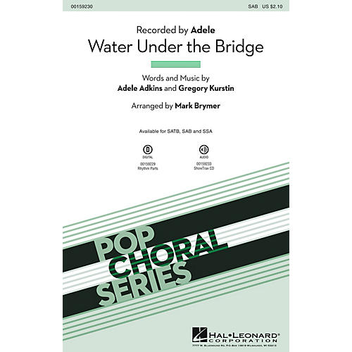 Hal Leonard Water Under the Bridge SAB by Adele arranged by Mark Brymer-thumbnail