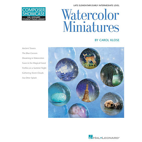 Hal Leonard Watercolor Miniatures Piano Library Series Book by Carol Klose (Level Late Elem to Early Inter)-thumbnail
