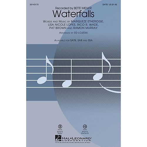 Hal Leonard Waterfalls SATB by Bette Midler arranged by Ed Lojeski-thumbnail