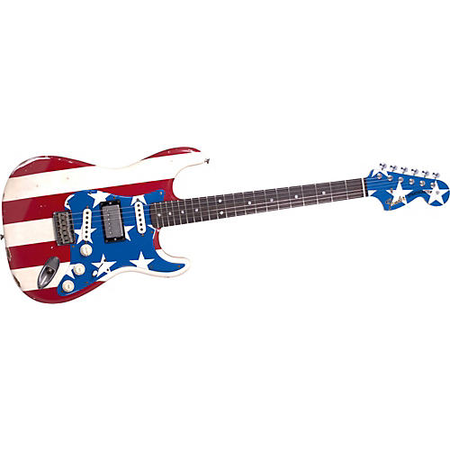 Fender Wayne Kramer Signature Flag Stratocaster Electric Guitar