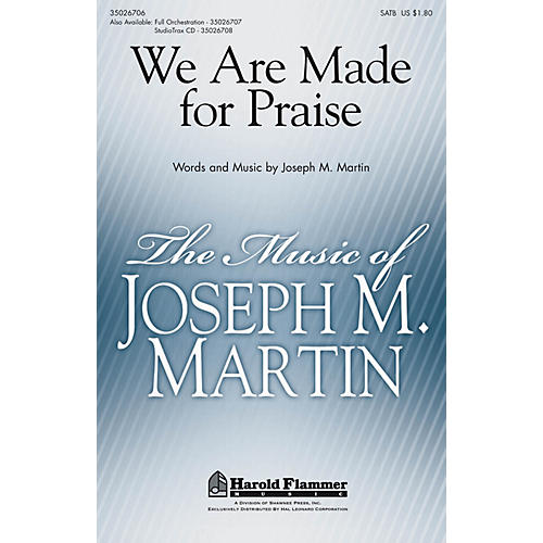 Shawnee Press We Are Made for Praise ORCHESTRATION ON CD-ROM Arranged by Stan Pethel-thumbnail