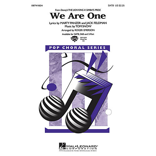 Hal Leonard We Are One (from The Lion King II: Simba's Pride) ShowTrax CD Arranged by Roger Emerson