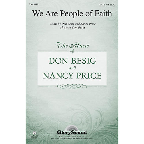 Shawnee Press We Are People of Faith SATB composed by Don Besig-thumbnail