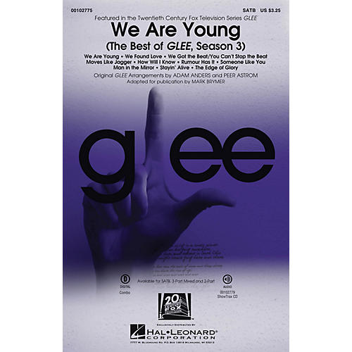 Hal Leonard We Are Young (The Best of Glee, Season 3 Medley) 2-Part by Glee Cast Arranged by Adam Anders