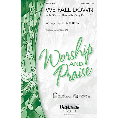 Hal Leonard We Fall Down with Crown Him with Many Crowns SAB Arranged by John Purifoy-thumbnail