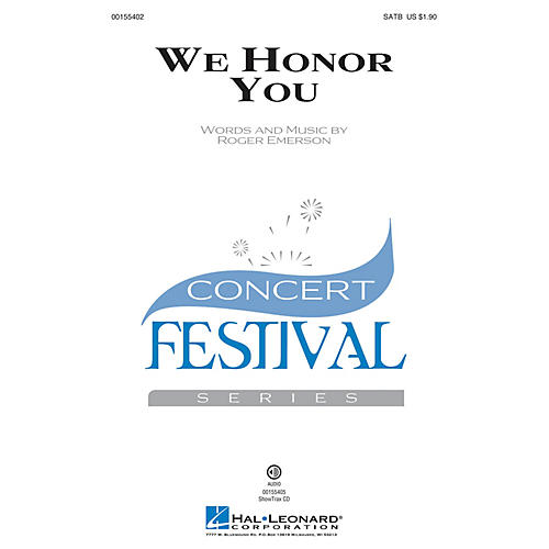 Hal Leonard We Honor You SATB composed by Roger Emerson-thumbnail
