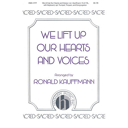 Hinshaw Music We Lift Up Our Hearts and Voices SATB arranged by Ronald Kauffmann-thumbnail