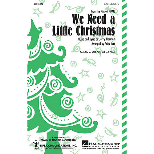 Hal Leonard We Need a Little Christmas (SATB) SATB Arranged by Anita Kerr-thumbnail