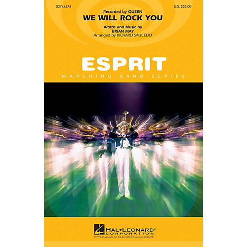Hal Leonard We Will Rock You Marching Band Level 3 Arranged by Richard Saucedo