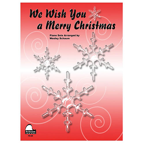 SCHAUM We Wish You A Merry Christmas Educational Piano Series Softcover-thumbnail