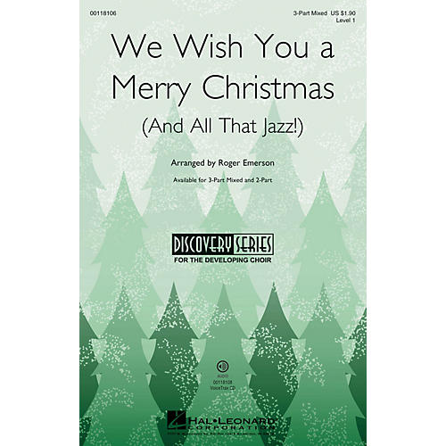 Hal Leonard We Wish You a Merry Christmas (and All That Jazz) (Discovery Level 1) 2-Part Arranged by Roger Emerson-thumbnail
