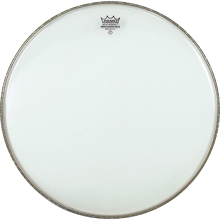 Remo WeatherKing Clear Ambassador Bass Drumhead  24 Inch