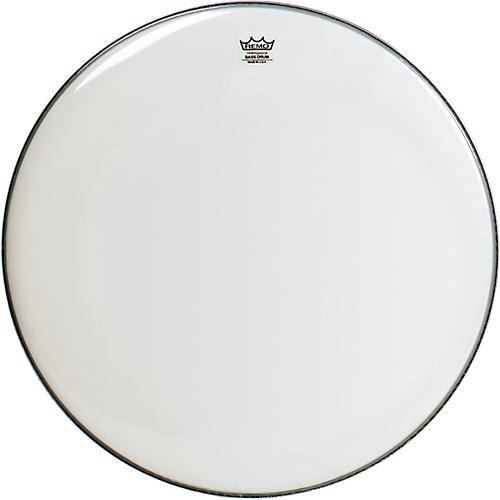 Remo WeatherKing Smooth White Ambassador Bass Drumhead  34 in.