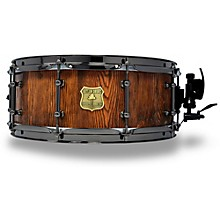 OUTLAW DRUMS Weathered Douglas Fir Stave Snare Drum with Black Chrome Hardware 14 x 5.5 in. Tobacco Glaze