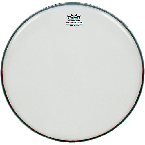 Remo Weatherking Smooth White Ambassador Batter  15 in.