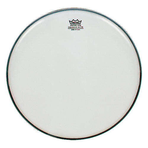 Remo Weatherking Smooth White Ambassador Batter  18 in.