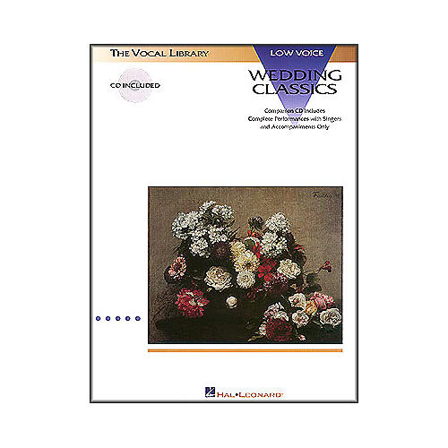 Hal Leonard Wedding Classics for Low Voice Book/CD