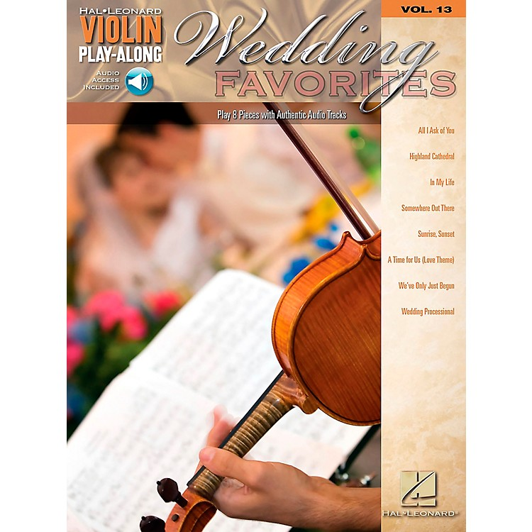 Hal Leonard Wedding Favorites - Violin Play-Along Volume 13 Book/CD