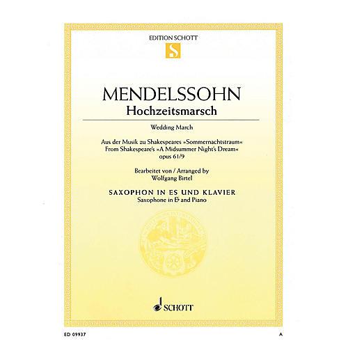 Schott Wedding March from A Midsummer Night's Dream Op. 61, No. 9 [Hochzeitsmarsch] Woodwind Series Book