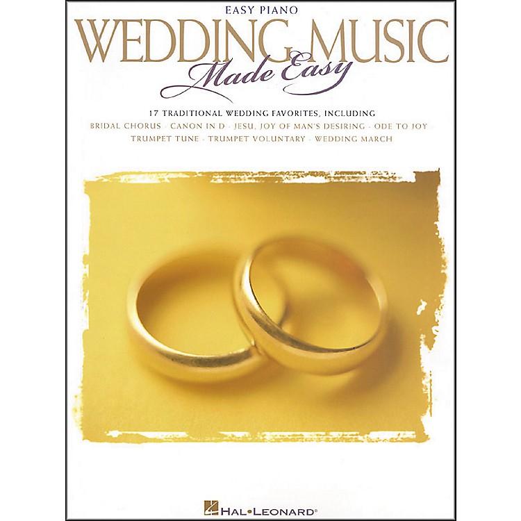 Hal LeonardWedding Music Made Easy For Easy Piano