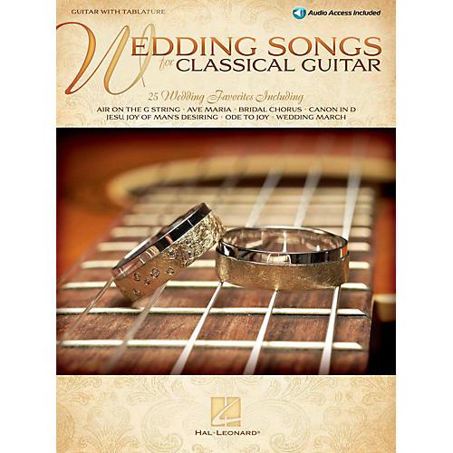 Hal Leonard Wedding Songs For Classical Guitar Book/Online Audio