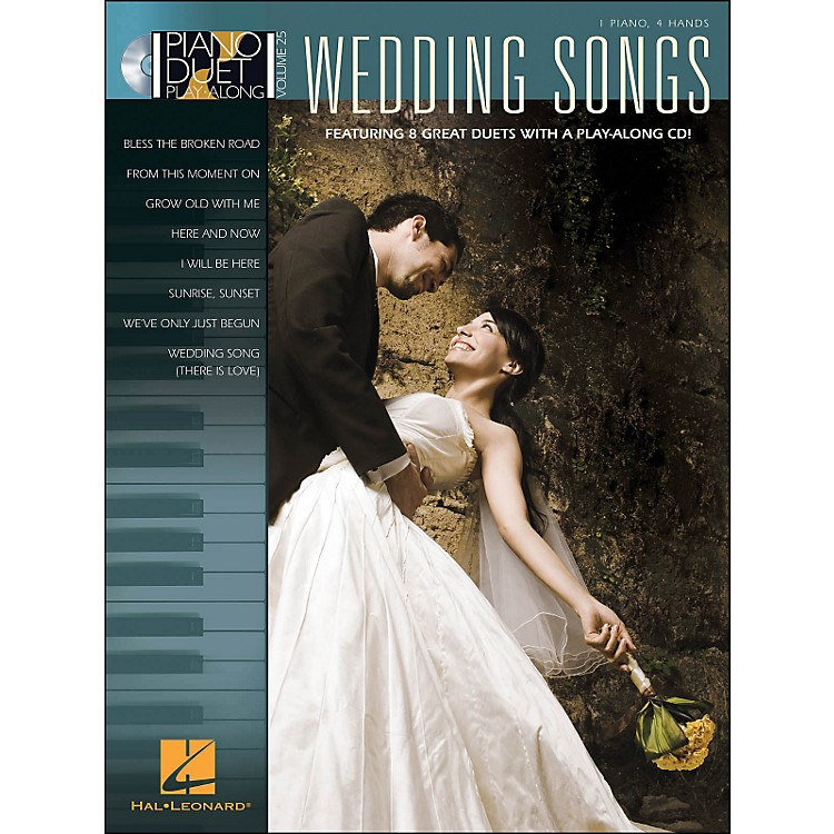 Hal Leonard Wedding Songs Piano Duet Play-Along Volume 25 Book/CD