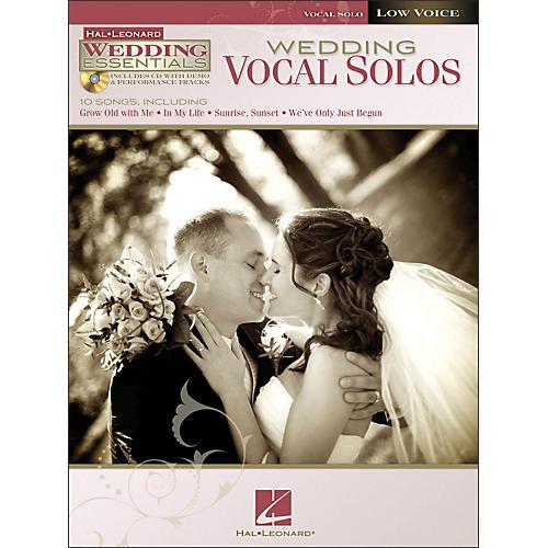 Hal Leonard Wedding Vocal Solos - Wedding Essentials Series for Low Voice Book/CD
