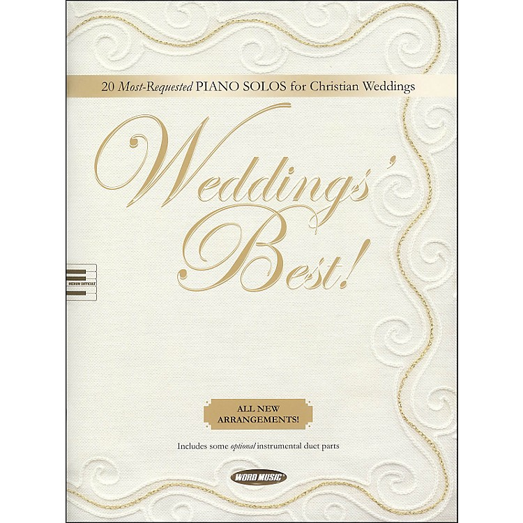Word Music Weddings' Best arranged for piano solos