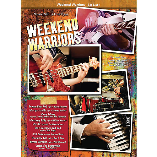 Music Minus One Weekend Warriors - Set List 1, Bass Music Minus One Series Softcover with CD Performed by Various-thumbnail