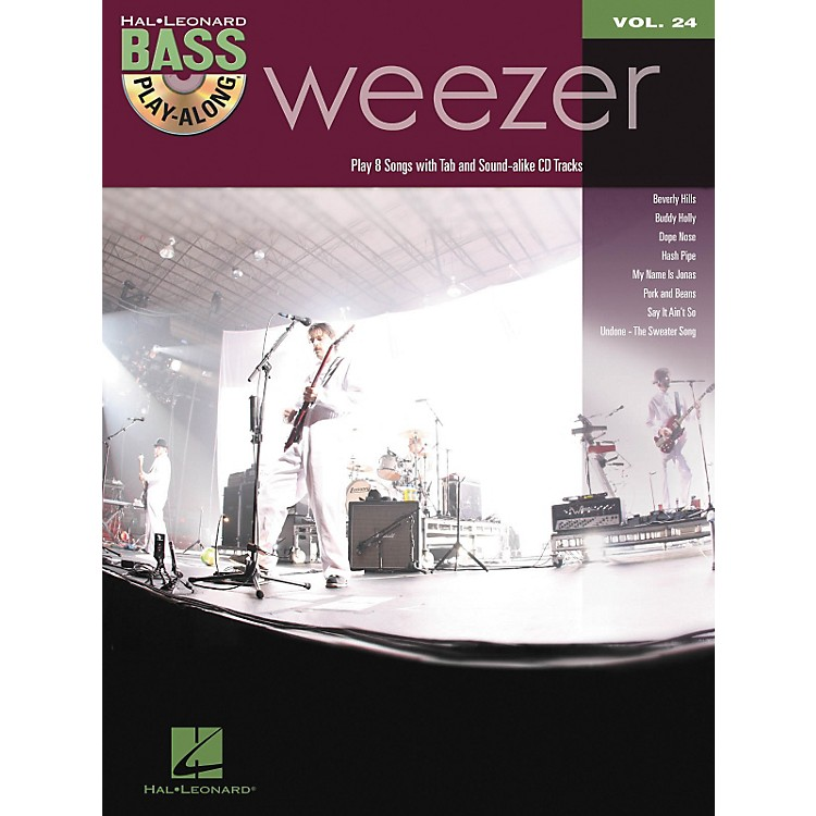 Hal Leonard Weezer - Bass Play-Along Volume 24 Book/CD
