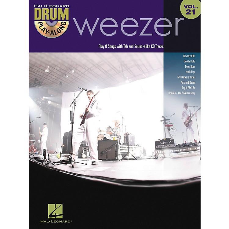 Hal LeonardWeezer - Drum Play-Along Volume 21 Book/CD