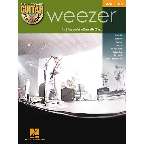 hal leonard weezer guitar play along volume 106 book cd musician 39 s friend. Black Bedroom Furniture Sets. Home Design Ideas