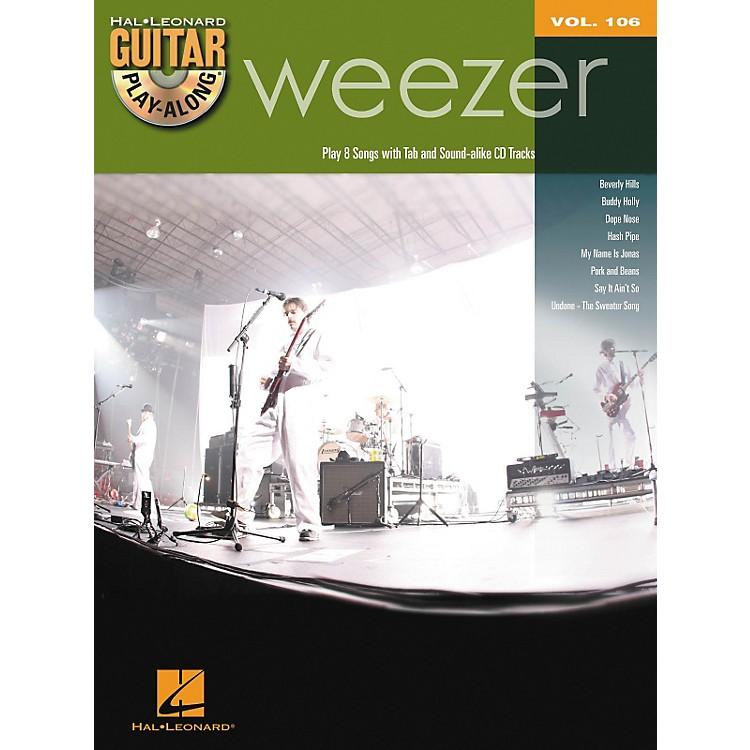 Hal Leonard Weezer - Guitar Play-Along Volume 106 Book/CD