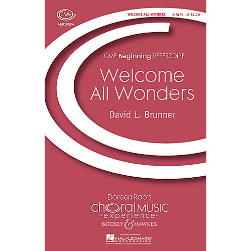 Boosey and Hawkes Welcome All Wonders (CME Beginning) 2-Part composed by David Brunner-thumbnail