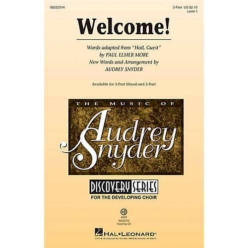 Hal Leonard Welcome! (Discovery Level 1) 2-Part arranged by Audrey Snyder-thumbnail