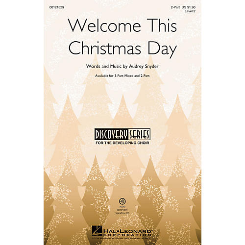 Hal Leonard Welcome This Christmas Day (Discovery Level 2) 2-Part composed by Audrey Snyder-thumbnail