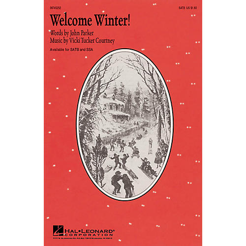 Hal Leonard Welcome Winter! SATB composed by John Parker-thumbnail