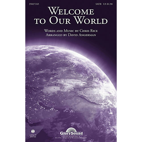 Shawnee Press Welcome to Our World SATB arranged by David Angerman-thumbnail