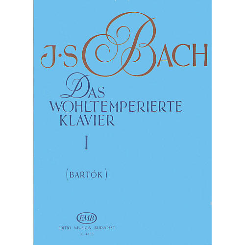 Editio Musica Budapest Well Tempered Clavier - Volume 1 BWV 846-869 EMB Series Composed by Johan Sebastian Bach-thumbnail