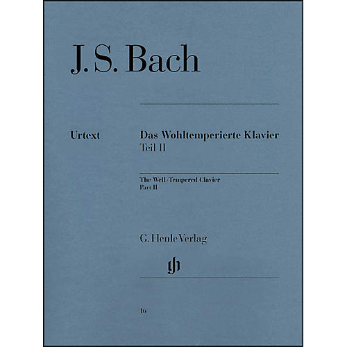 G. Henle Verlag Well-Tempered Clavier BWV 870-893 Part II By Bach