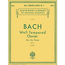 G. Schirmer Well Tempered Clavier Book 1 Piano By Bach