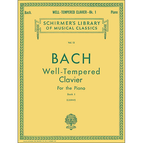 G. Schirmer Well Tempered Clavier Book 1 Piano By Bach-thumbnail