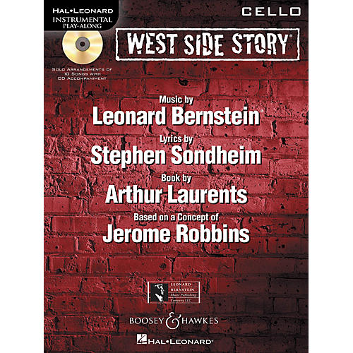 Hal Leonard West Side Story for Cello Instrumental Play-Along Series Softcover with CD