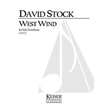 Lauren Keiser Music Publishing West Wind (Trombone Solo) LKM Music Series Composed by David Stock