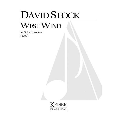 Lauren Keiser Music Publishing West Wind (Trombone Solo) LKM Music Series Composed by David Stock-thumbnail