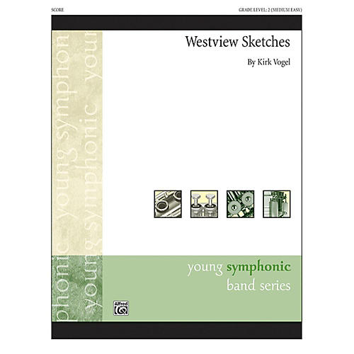 Alfred Westview Sketches Concert Band Grade 2-thumbnail