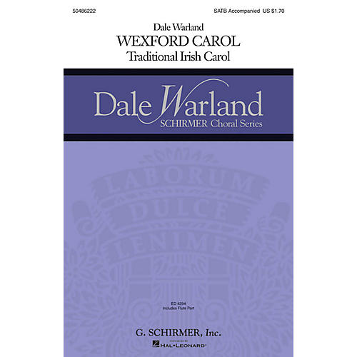 G. Schirmer Wexford Carol (Dale Warland Choral Series) SATB arranged by Dale Warland-thumbnail