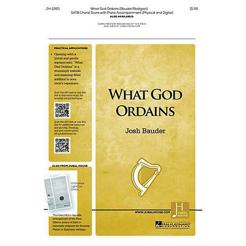 Jubal House Publications What God Ordains SATB composed by Josh Bauder-thumbnail