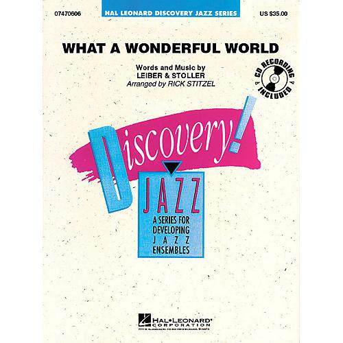 Hal Leonard What a Wonderful World Jazz Band Level 1.5 Arranged by Rick Stitzel